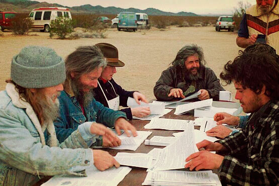 L to R: Brad Goans, Alliance of Atomic Vets, peacekeeper team; Rick Beaumont, peacekeeper team ; Catherine Powell, BanWaste; John Stevens; far right (unknown). Photo: Molly P. Johnson.