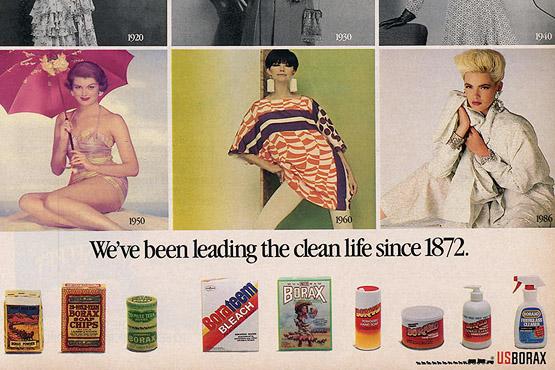 Detail of an U.S. Borax advertisement, circa 1980s.