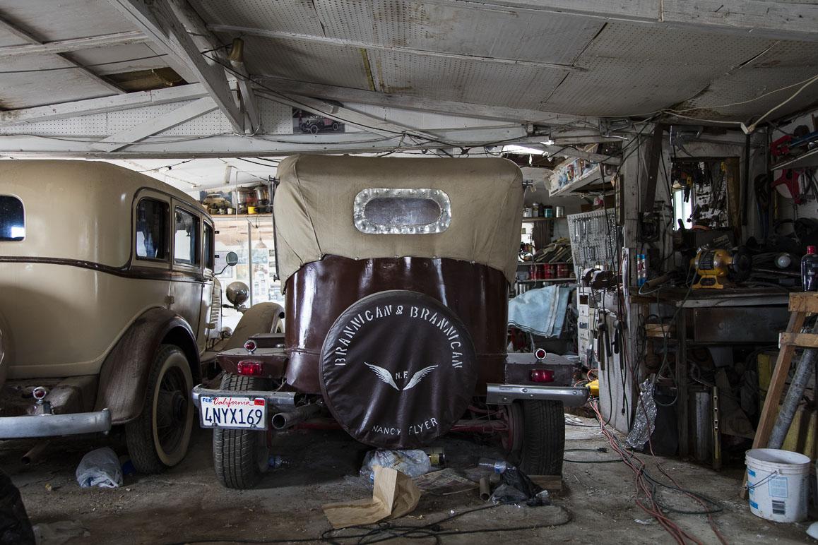 Two of the Brannigan's customized vintage automobiles. Photo: Kim Stringfellow.
