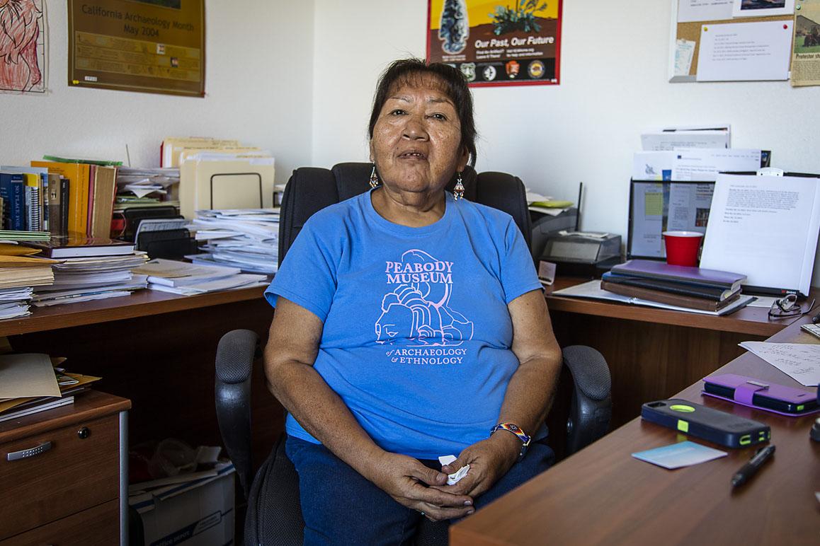 Barbara Durham, Timbisha Shoshone elder and Tribal Historic Preservation Officer photographed at the Timbisha tribal offices. Photo: Kim Stringfellow.