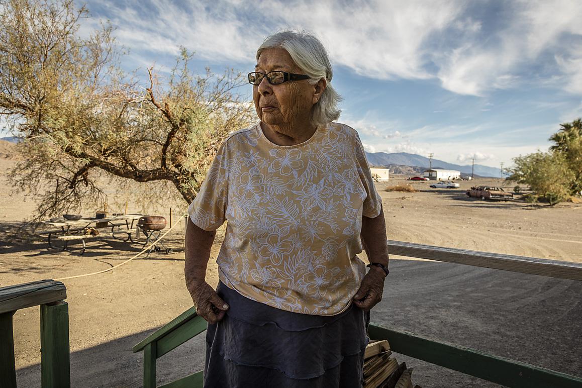 Pauline Esteves, Timbisha Shoshone elder and activist, photographed at her home in Timbisha. Photo: Kim Stringfellow.